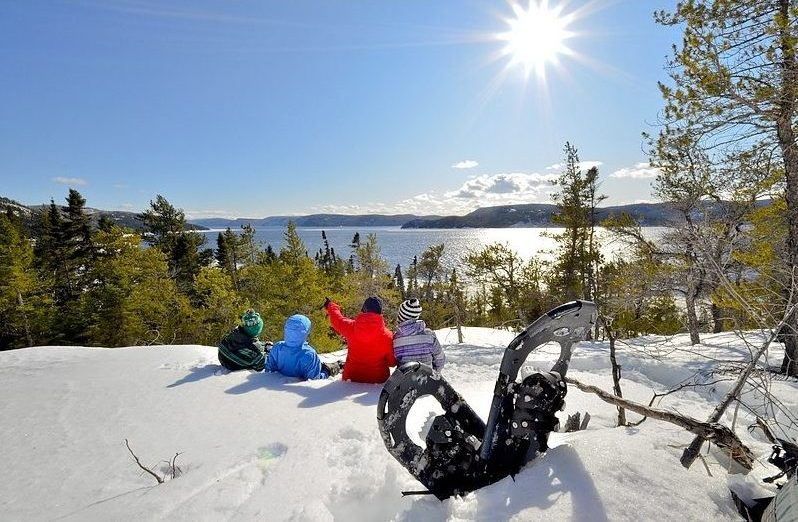 Sentiers raquette fjord Saguenay