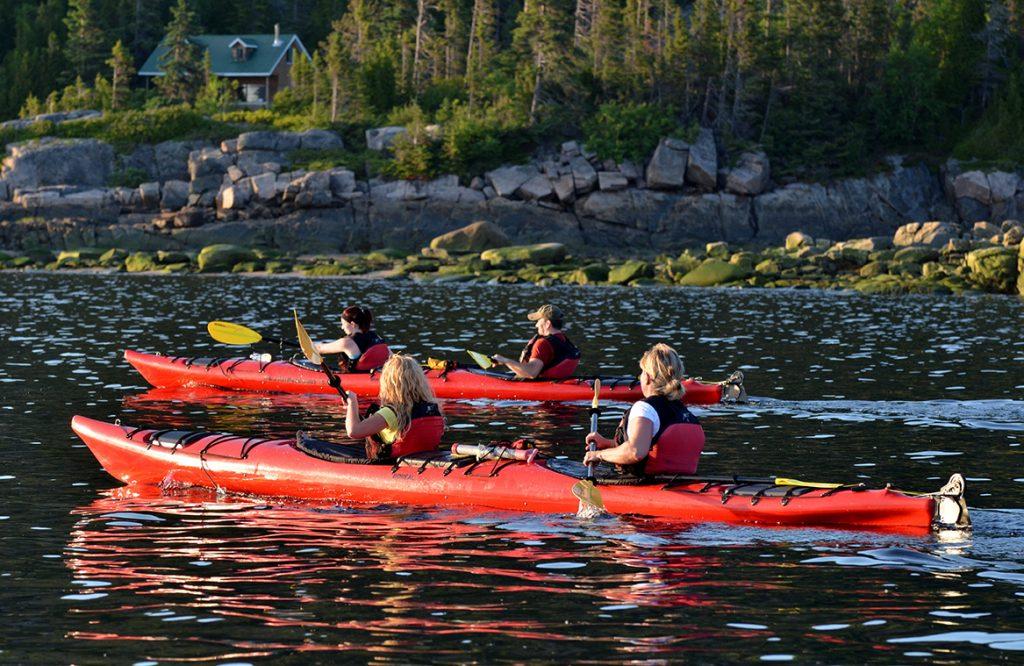Randonnée de kayak sur le Saguenay