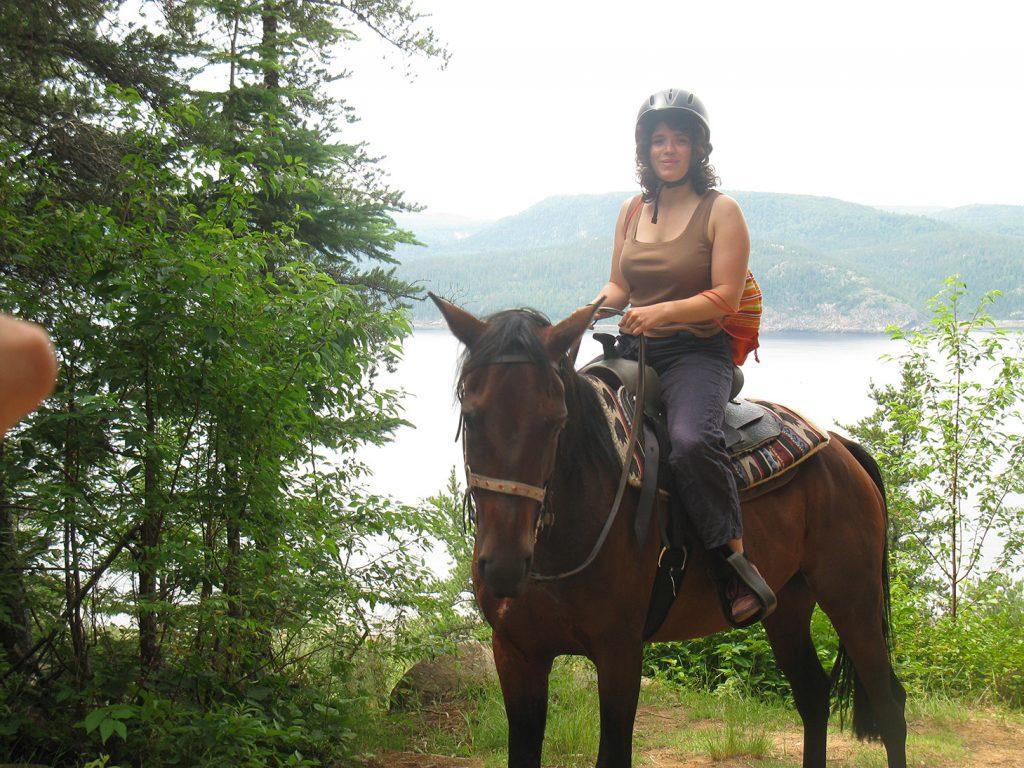 Randonnée d'équitation fjord Saguenay