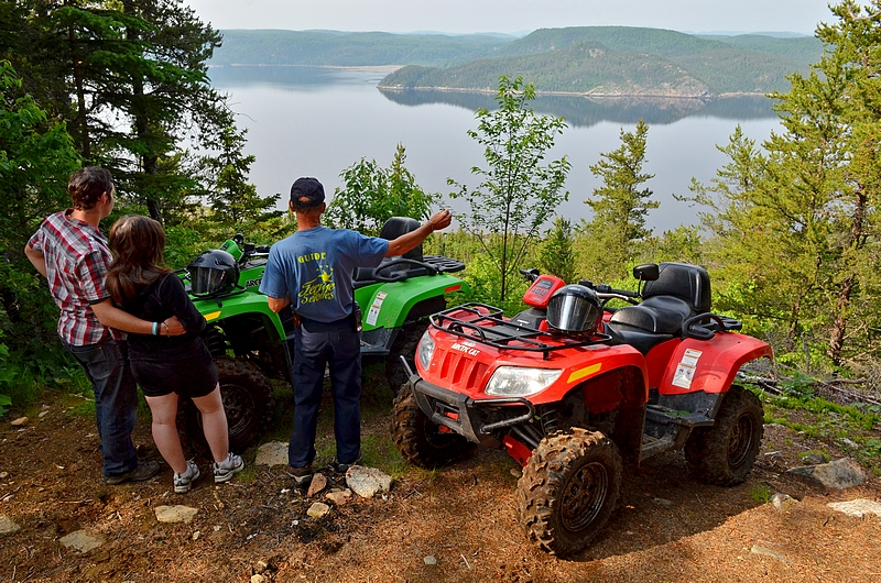 Point de vue Fjord Saguenay en Quad