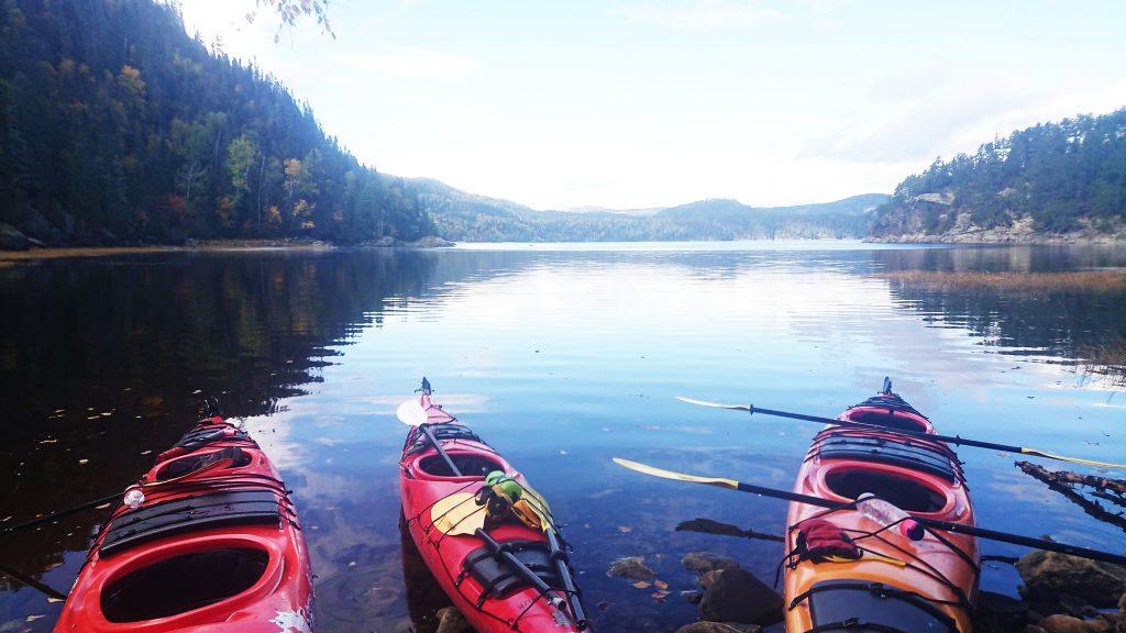 Activité plein air en kayak